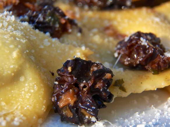 Ramps Ravioli with Morel Mushrooms