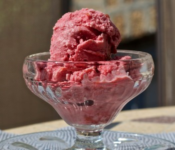 Tart Cherry Frozen Yogurt