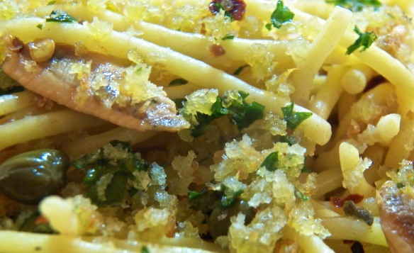 Spaghetti with White Anchovies and Capers