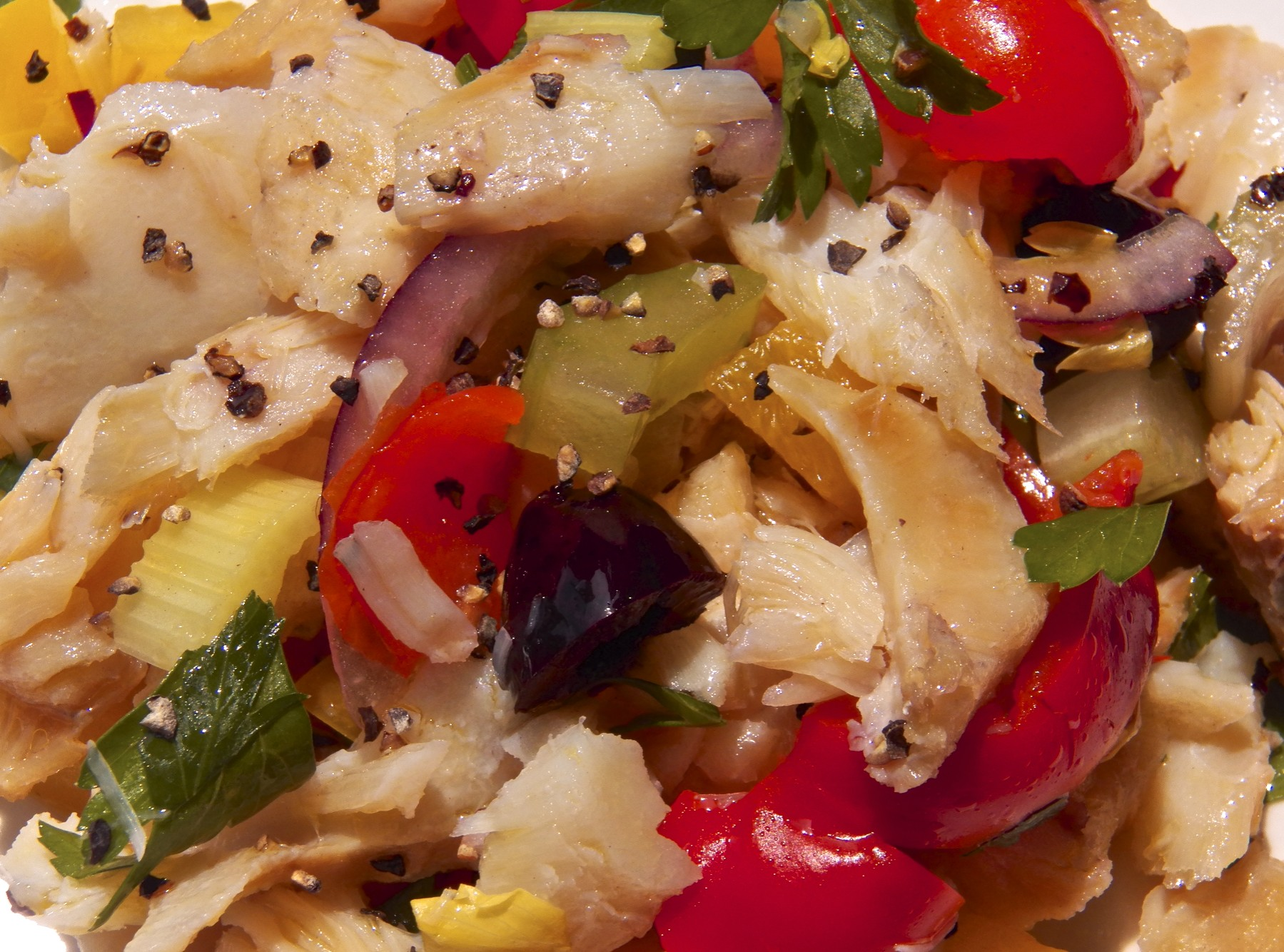 Salted cod salad from the bartolini kitchens for Fish salad recipes