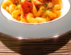 Cavatappi with Tuna