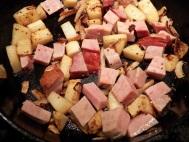 Add ham & continue sautéing