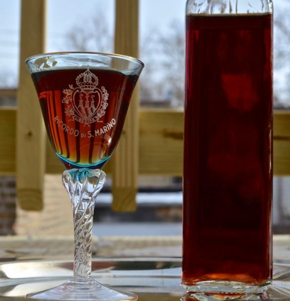 Cherry Liqueur Served