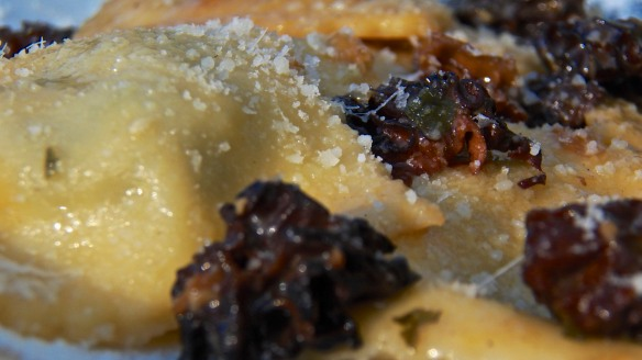 Ravioli with Morels