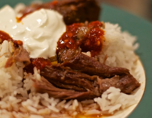 Braised Goat over RIce