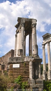 Temple of the goddess Vesta (foreground)