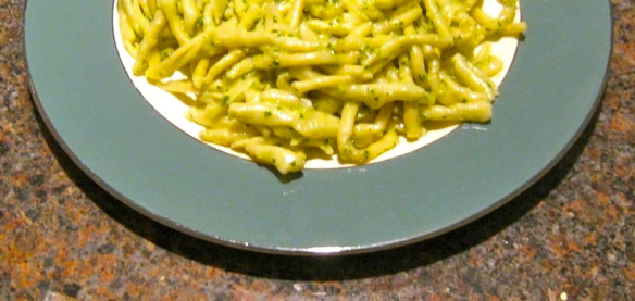 Strozzapreti with Pesto