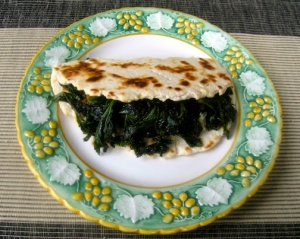 Kale-filled Pieda