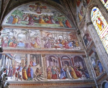 Sanctuary Frescoes to the left of the altar of Santa Maria Novella