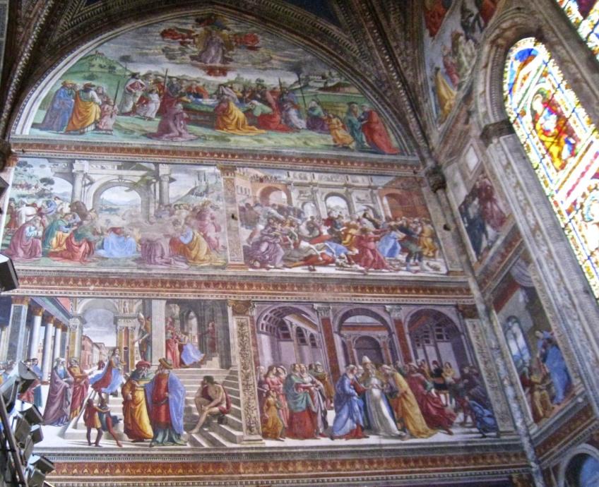 Sanctuary Frescoes to the left of the altar of Santa Maria Novella