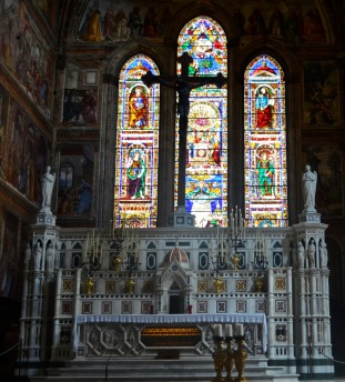The Altar and Tornabuoni Chapel, Santa Maria Novella