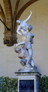 """The Rape of the Sabine Women"" by Giambologna"