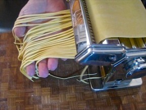 Cutting Linguine by Machine