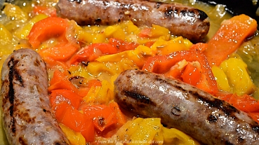 Sausages, Peppers, & Onions