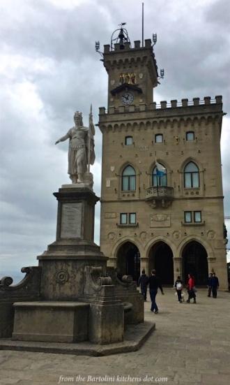 Piazza della Liberta with the Palazzo Pubblico, the seat of the Govt