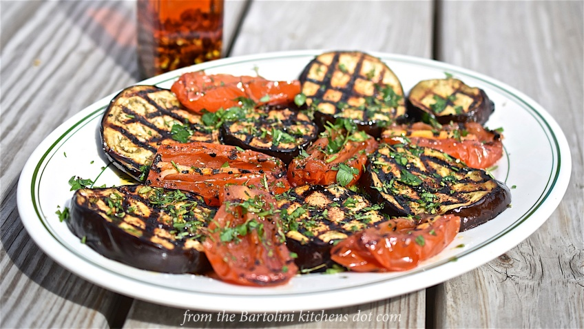 Grilled Eggplant & Tomato