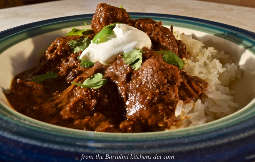 Pork Mole over Rice - 1